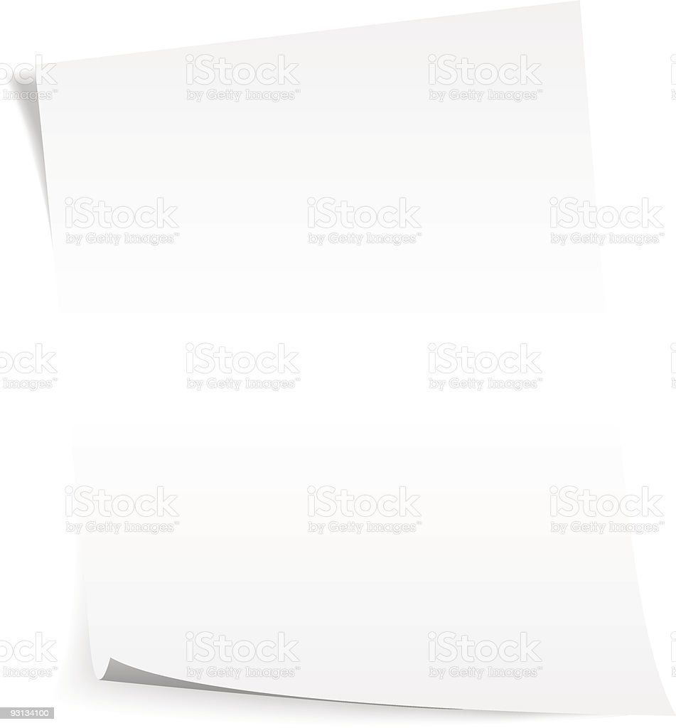 paper royalty-free stock vector art