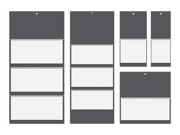 illustrations, cliparts, dessins animés et icônes de modèle de papier mural spirale calendrier maquette vector - ellen page
