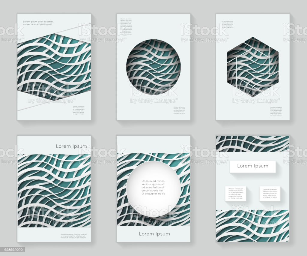 Vagues De Papier 3d Au Design Modele Dessin Abstrait Colore