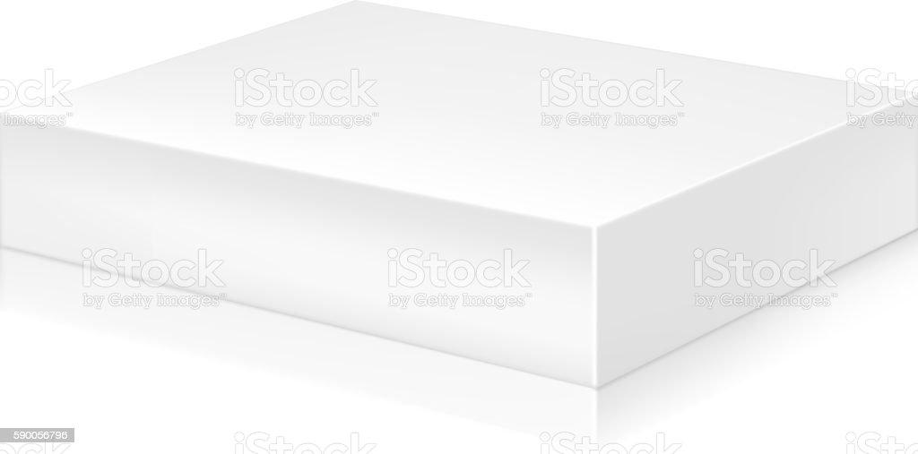 Paper white box mock-up template. - ilustração de arte em vetor