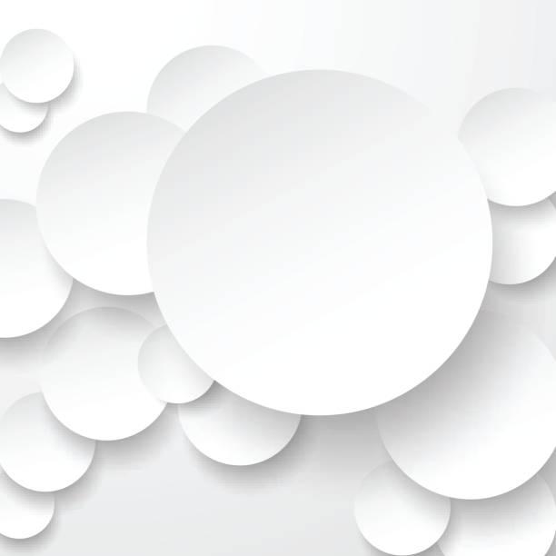papier weißen kreisen. - blase physikalischer zustand stock-grafiken, -clipart, -cartoons und -symbole