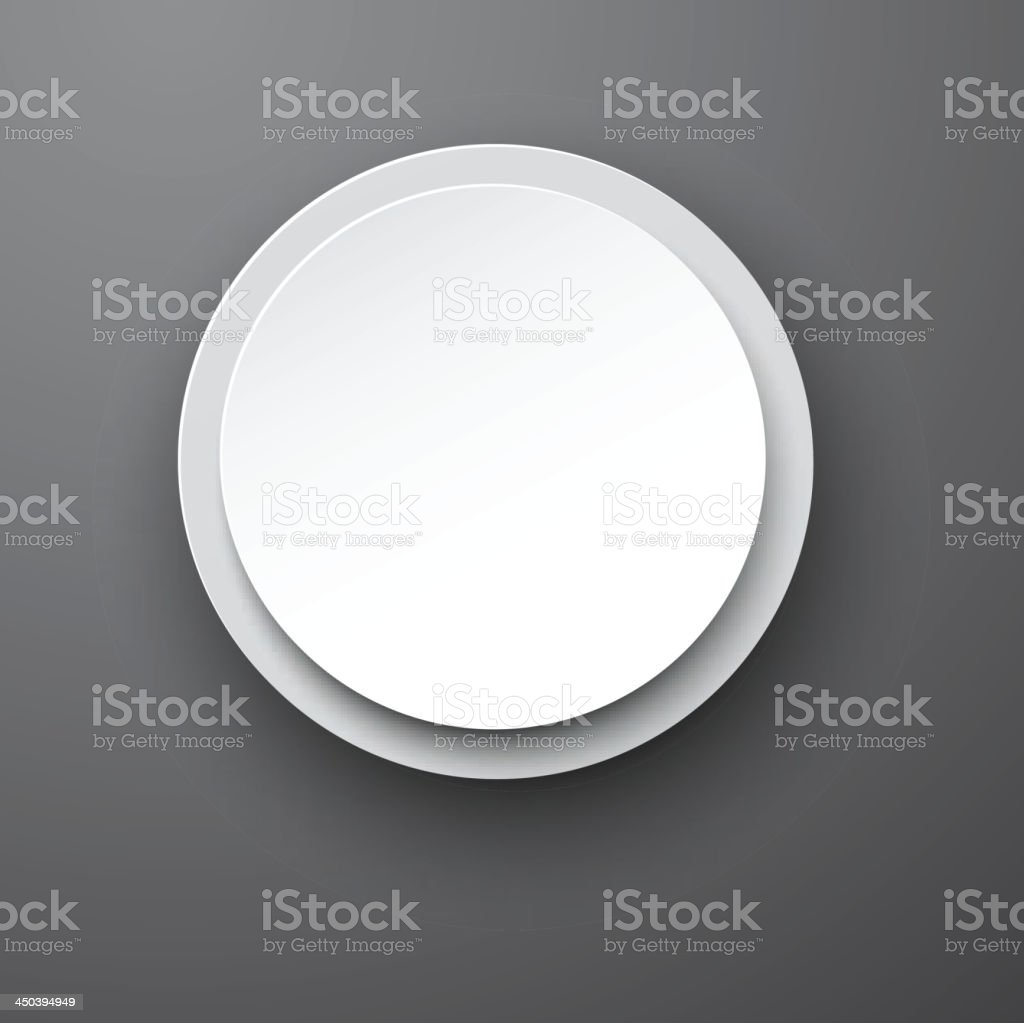 Paper white round bubble. royalty-free stock vector art