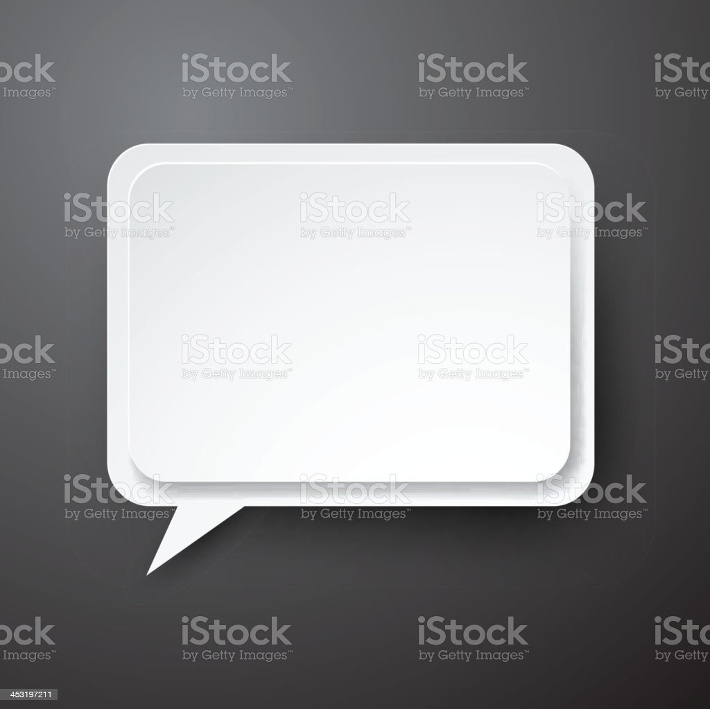 Paper white speech bubble. royalty-free paper white speech bubble stock vector art & more images of abstract