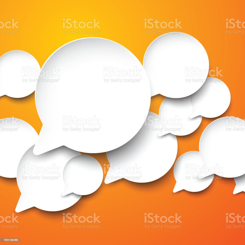 Paper white speech bubbles. royalty-free stock vector art