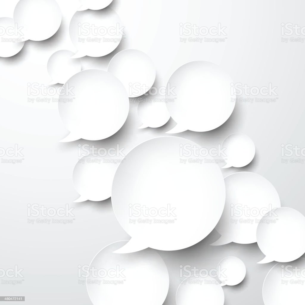 Paper white speech bubbles. royalty-free paper white speech bubbles stock vector art & more images of abstract