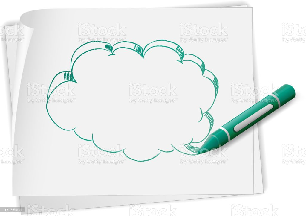 paper with a doodle art royalty-free stock vector art