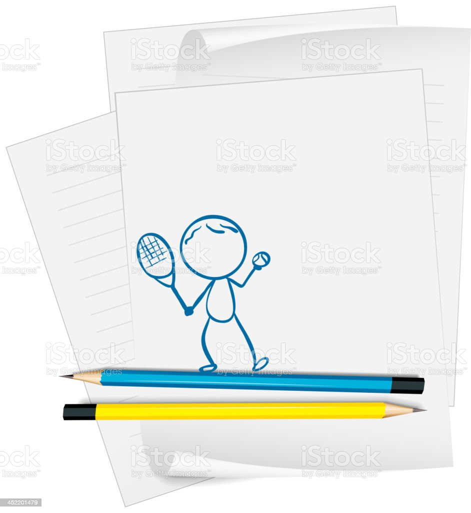 paper with a sketch of person royalty-free paper with a sketch of person stock vector art & more images of artist