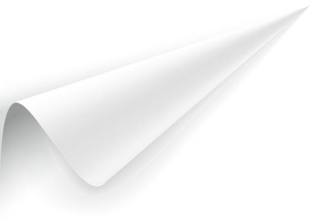 paper with a wrapped up corner. - skórka stock illustrations
