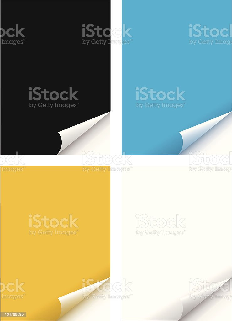 Paper with curl page royalty-free stock vector art