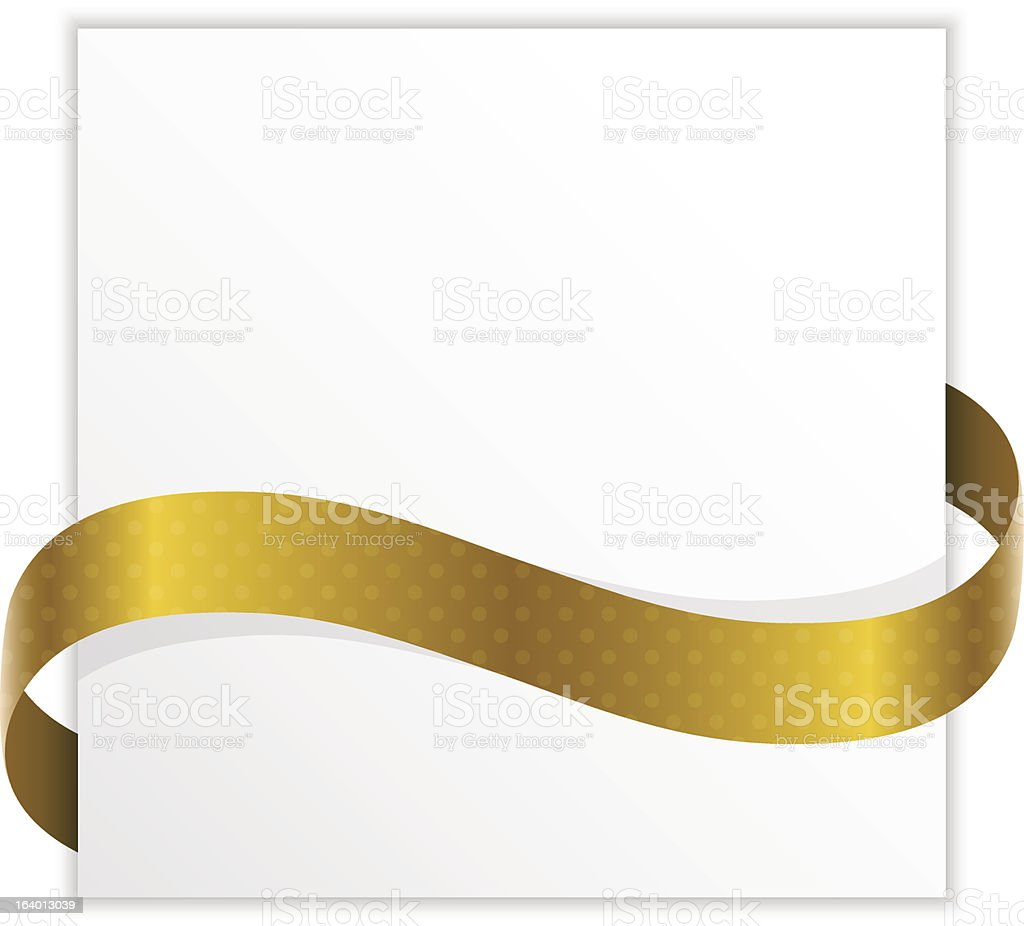 paper with golden ribbon royalty-free stock vector art