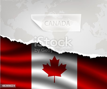 istock paper with hole and shadows CANADA flag 482856024