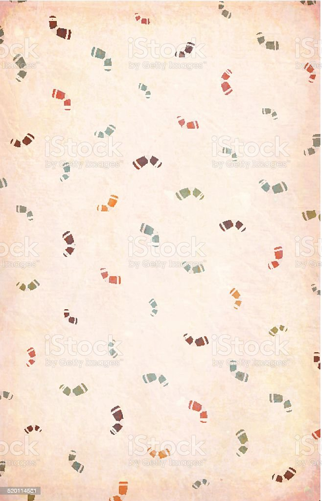Paper with multicolored Socks - Chritmas Greetings vector art illustration