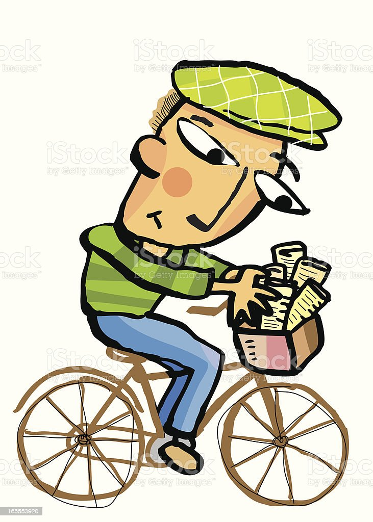 paperboy delivery royalty-free paperboy delivery stock vector art & more images of activity