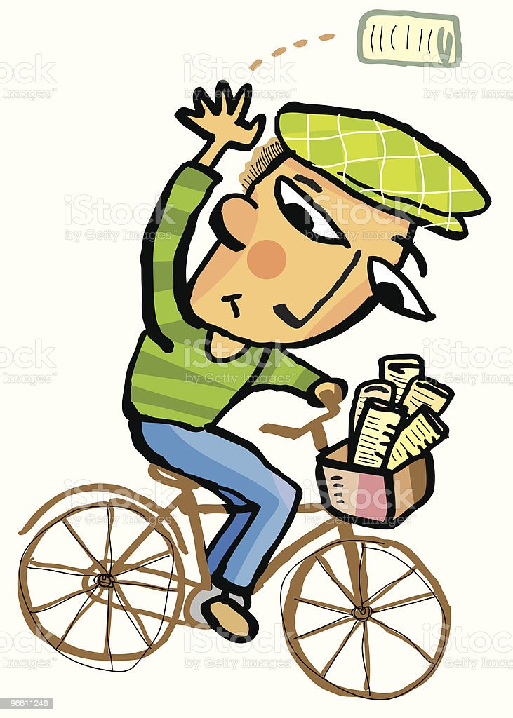 Paperboy vector art illustration