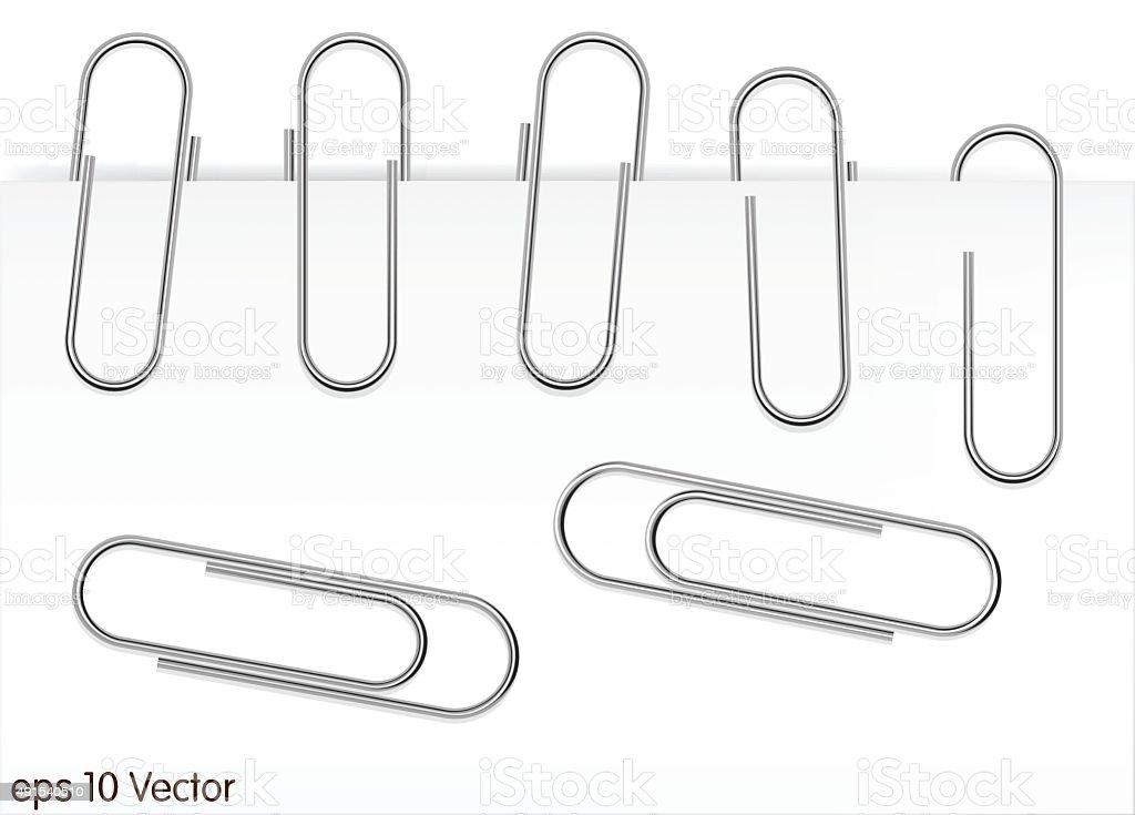 royalty free metal paper clip clip art vector images
