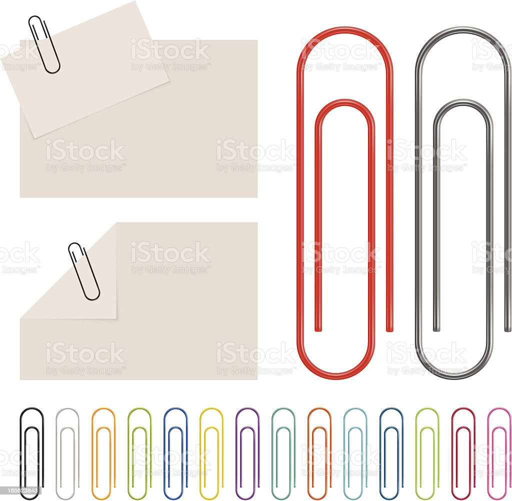 Paperclip vector art illustration