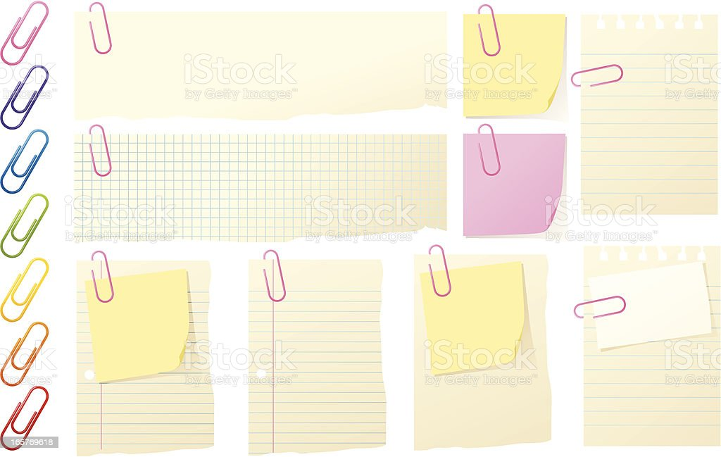Paperclipped royalty-free stock vector art