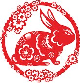 Papercut art for year of the rabbit