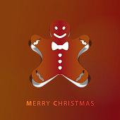 Gingerbread man papercut art