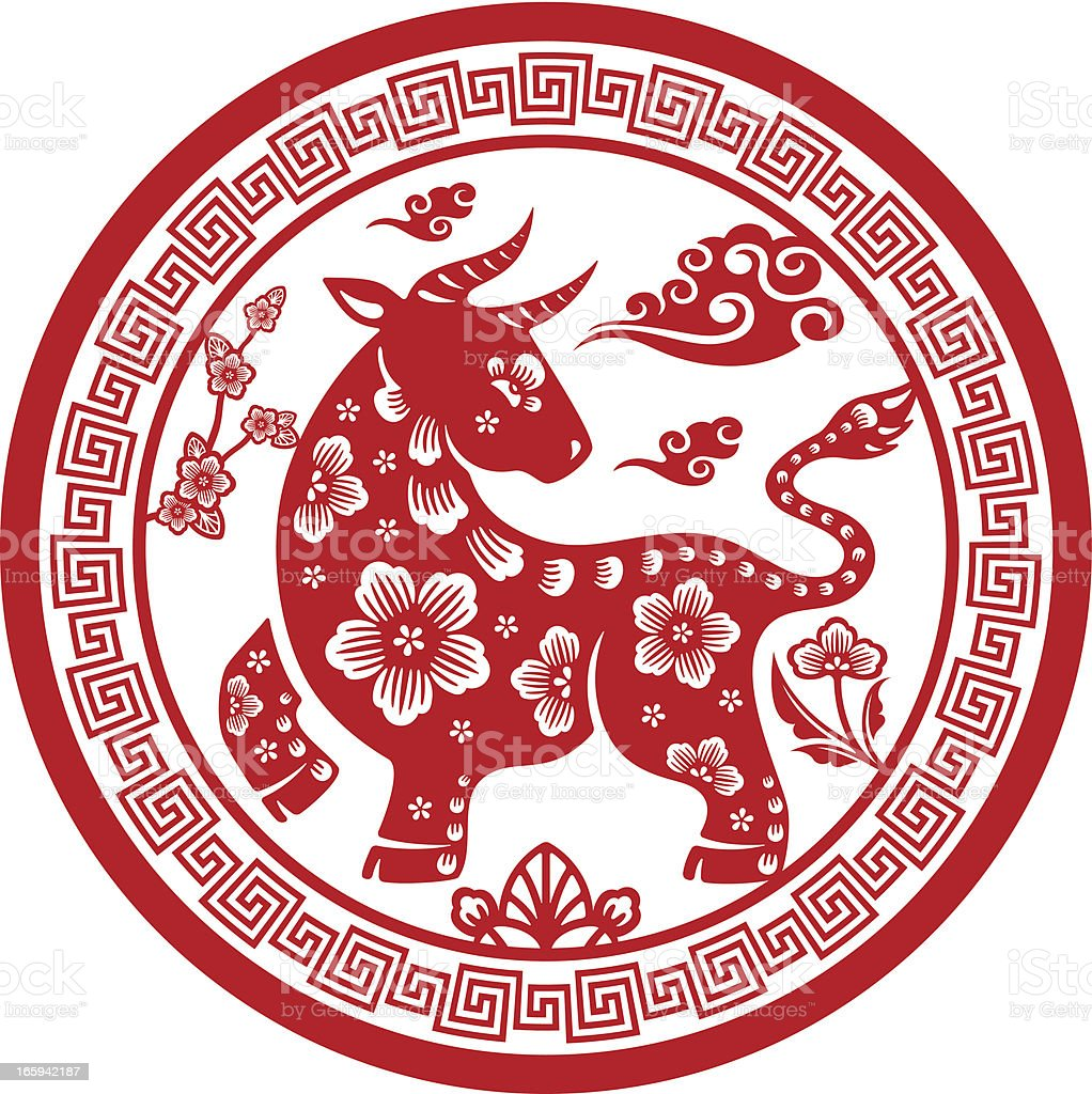 Vector Illustration Chinese Zodiac Signs Horse Stock