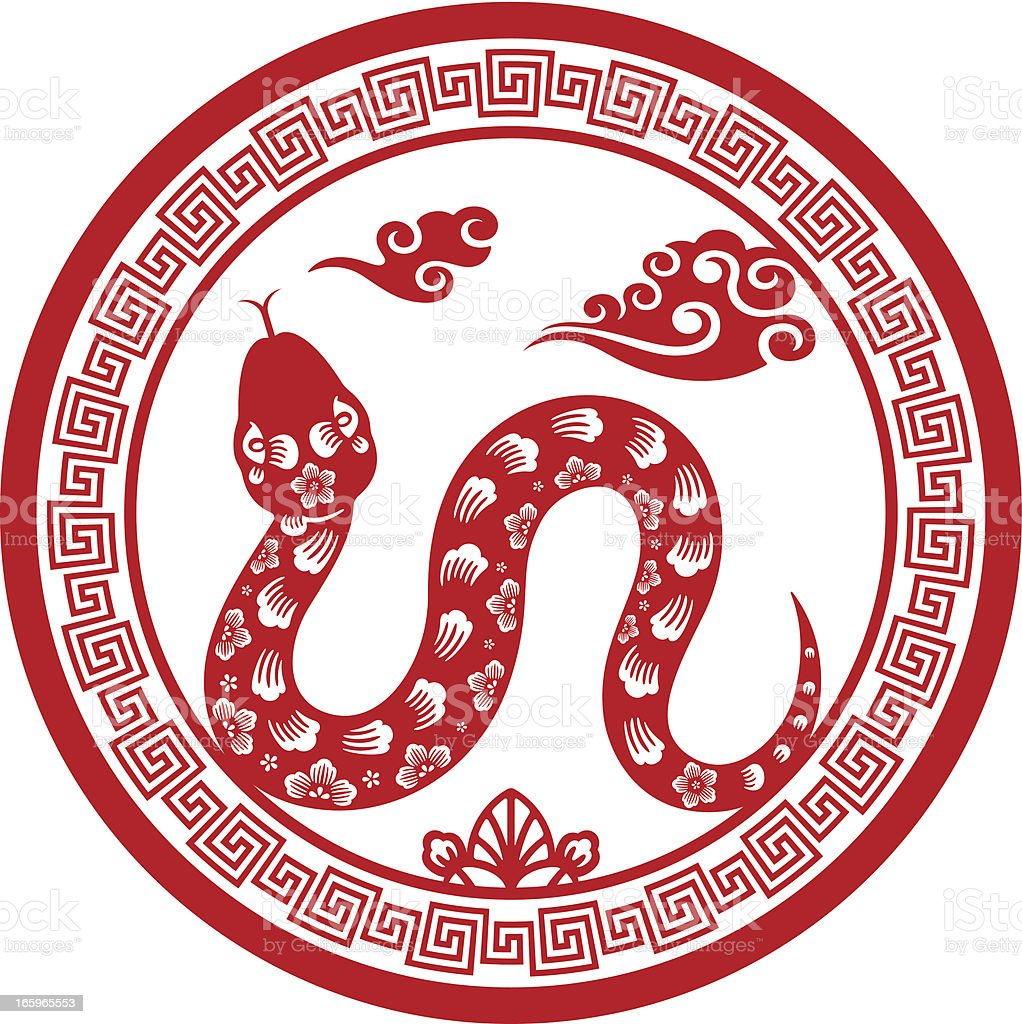 papercut chinese zodiac sign snake stock vector art more images of