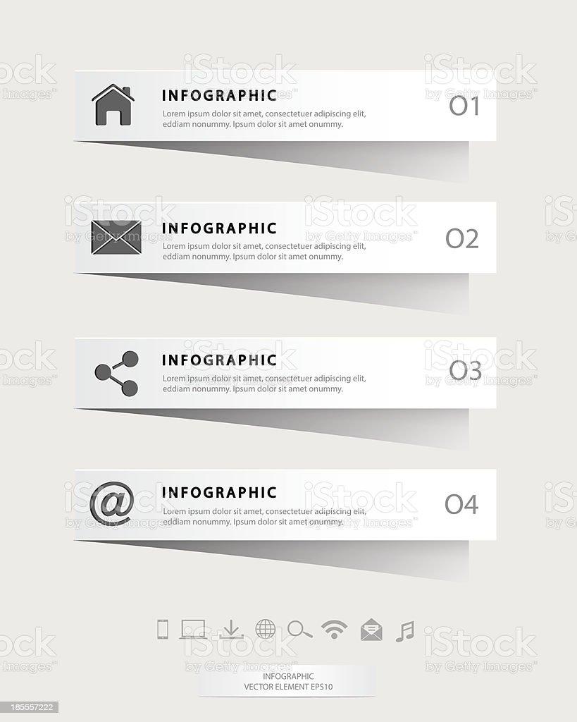 Papercut-Infografik Lizenzfreies papercutinfografik stock vektor art und mehr bilder von abstrakt