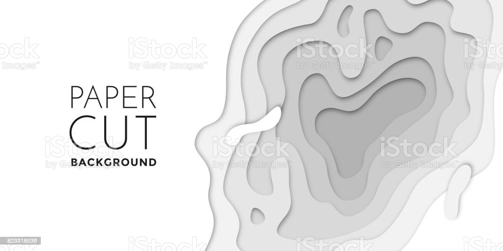 3d Papercut Layers Paper Cut Vector Art Background Banner Texture ...