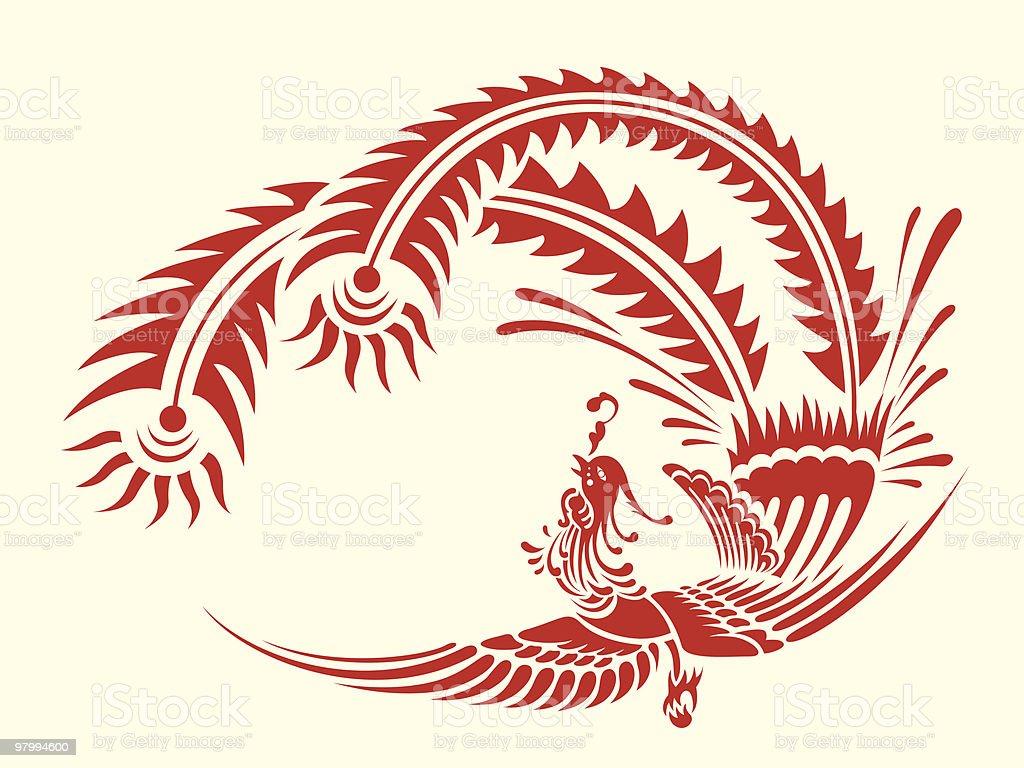 Papercut Style - Phoenix royalty free papercut style phoenix stockvectorkunst en meer beelden van arabië