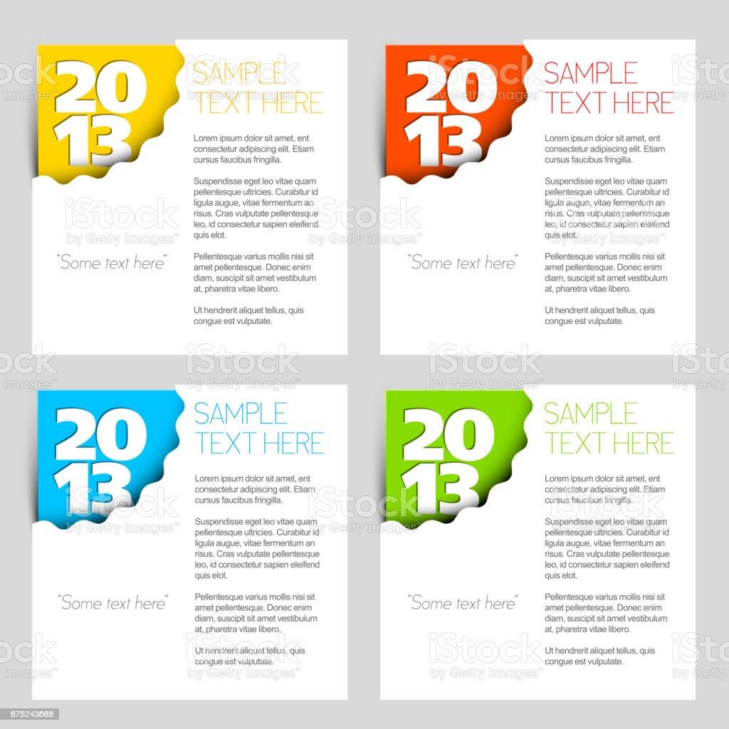 paper-numbers-set-vyhrizy-vlnky vector art illustration