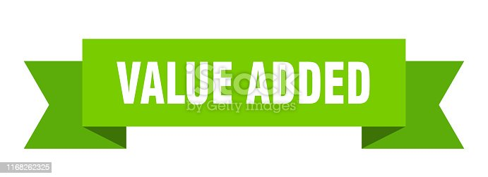 value added ribbon. value added isolated sign. value added banner