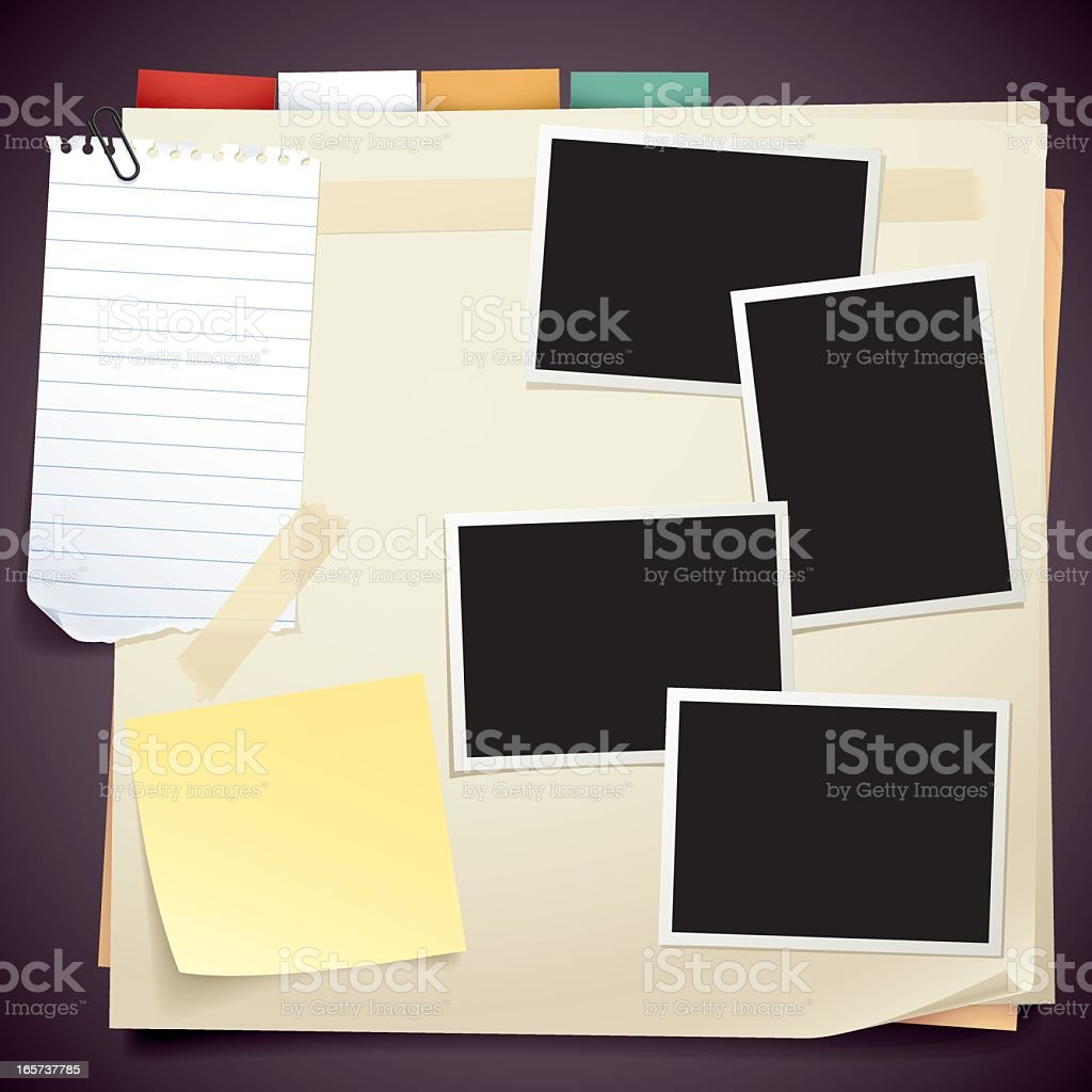 papers and photo royalty-free stock vector art