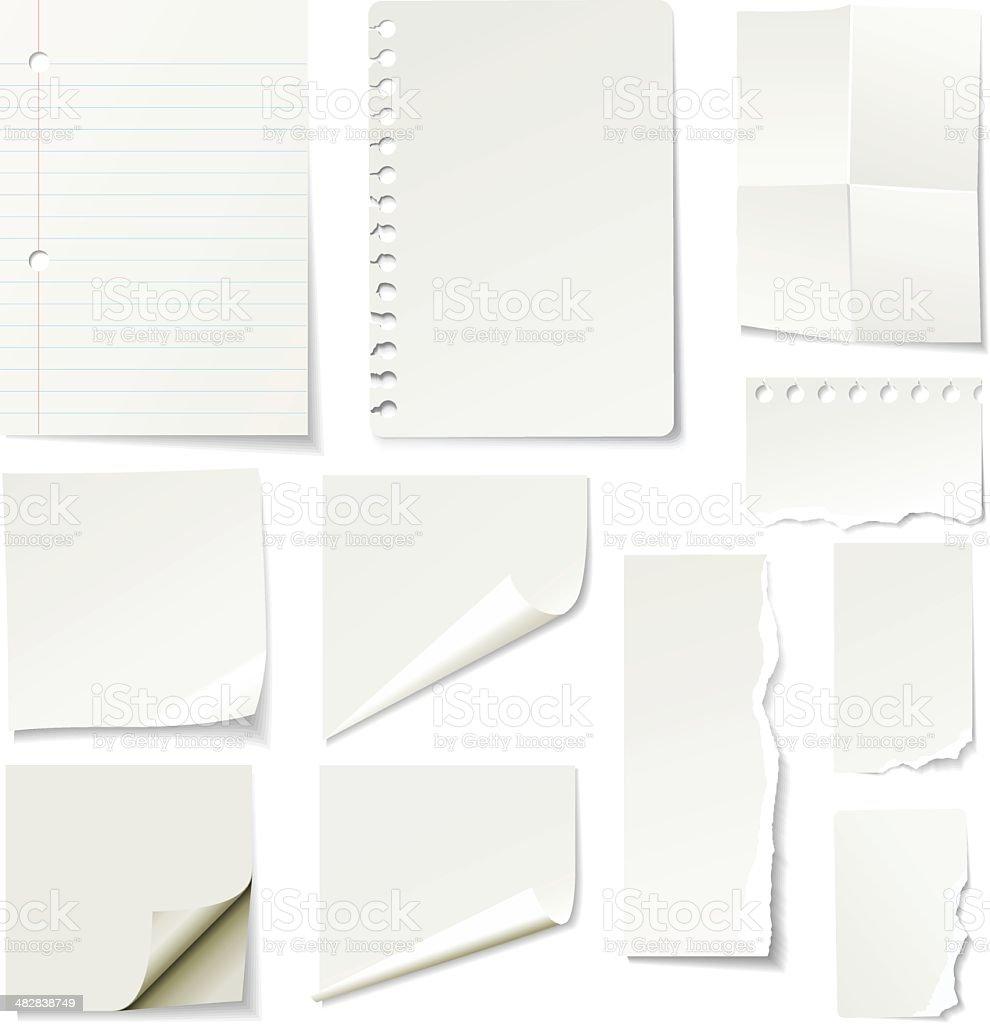 Les journaux - clipart vectoriel de Blanc libre de droits