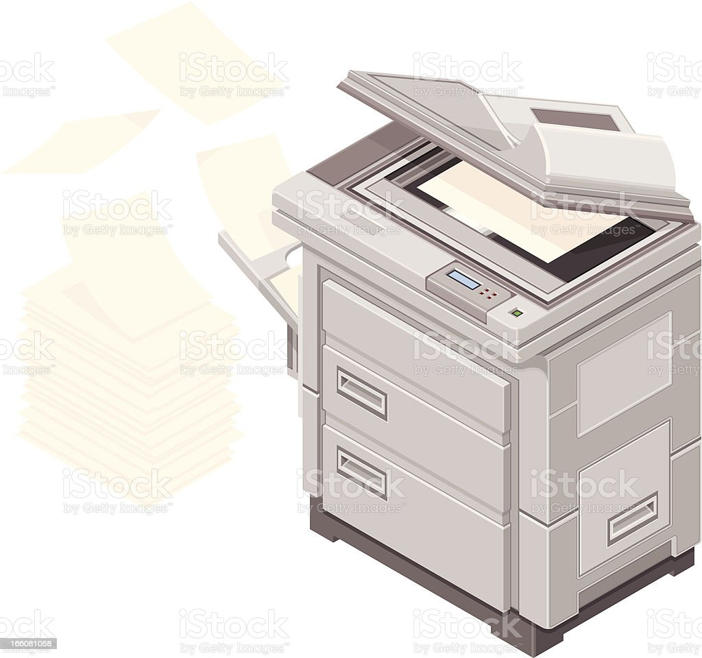 Paperwork and photocopier Icon royalty-free stock vector art