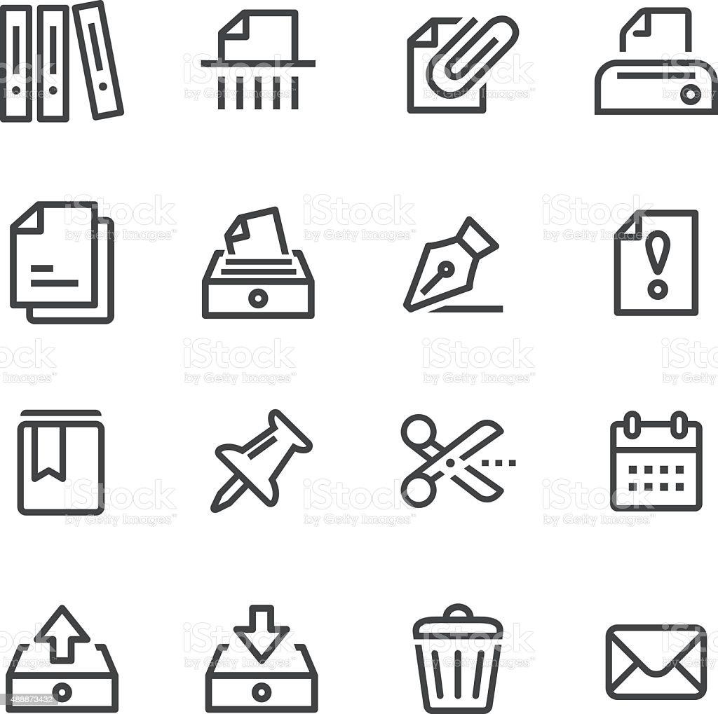 Paperwork Icons - Line Series vector art illustration