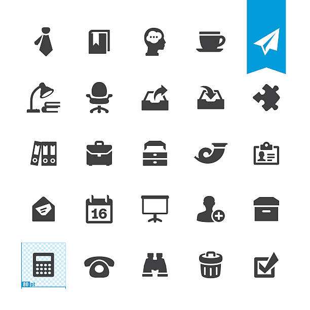 Paperwork & Office vector sign and icon Paperwork & Office related sign and icon BASE pack #61 office chair stock illustrations