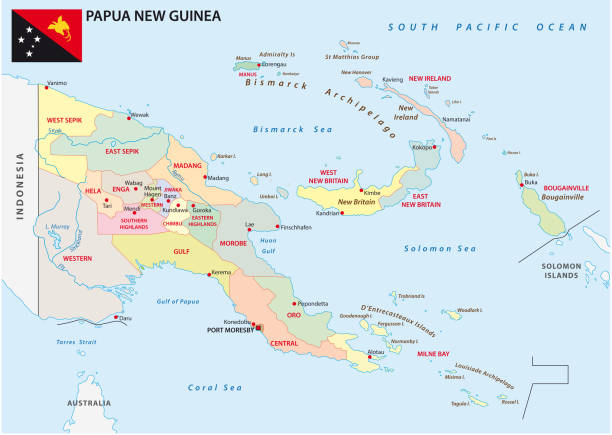 Best Papua New Guinea Map Illustrations, Royalty-Free Vector ...