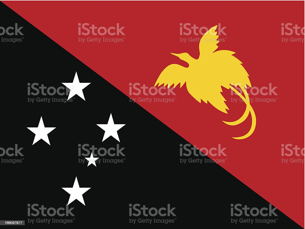 Papua New Guinea Flag royalty-free stock vector art
