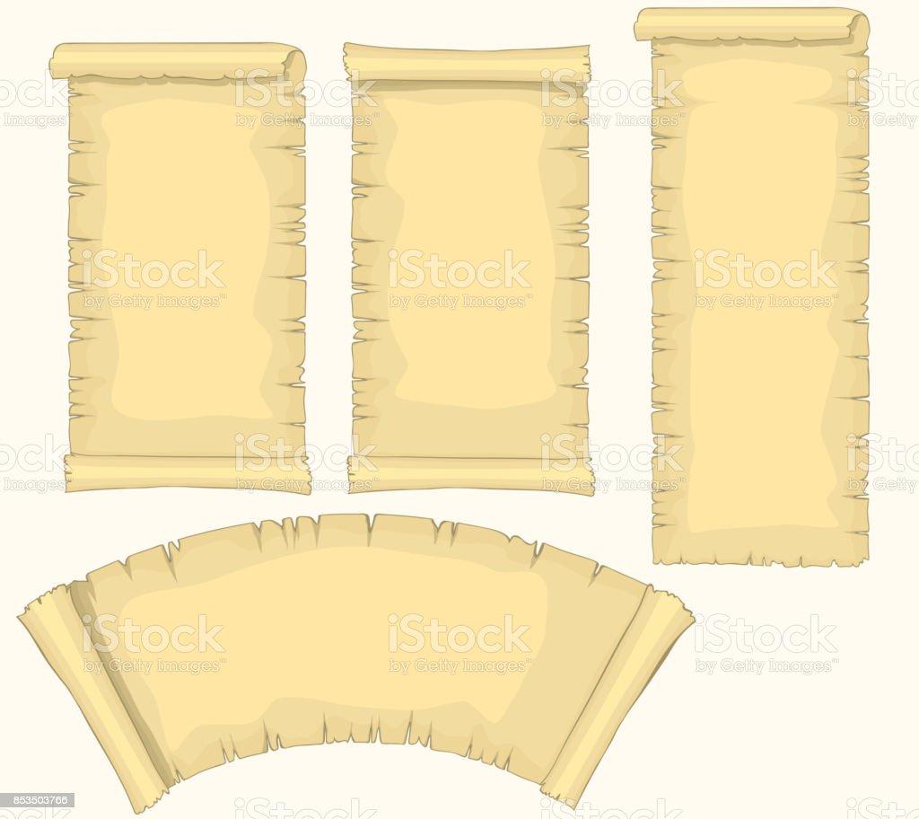 Papyrus Schriftrollen Set Gealterte Leere Papierrolle ...