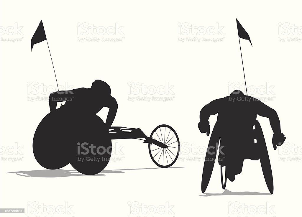 Para Cycling Vector Silhouette vector art illustration
