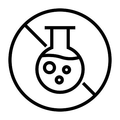 Paraben Free Line Icon, Outline Symbol Vector Illustration