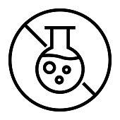 istock Paraben Free Line Icon, Outline Symbol Vector Illustration 1310290461
