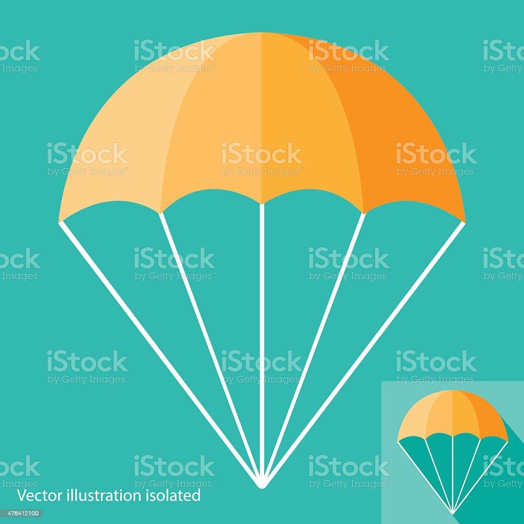 Parachute Icon vector art illustration