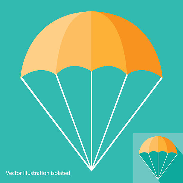 Parachute Icon Parachute Icon parachuting stock illustrations