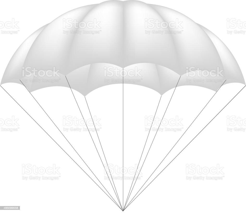 Parachute in white design vector art illustration