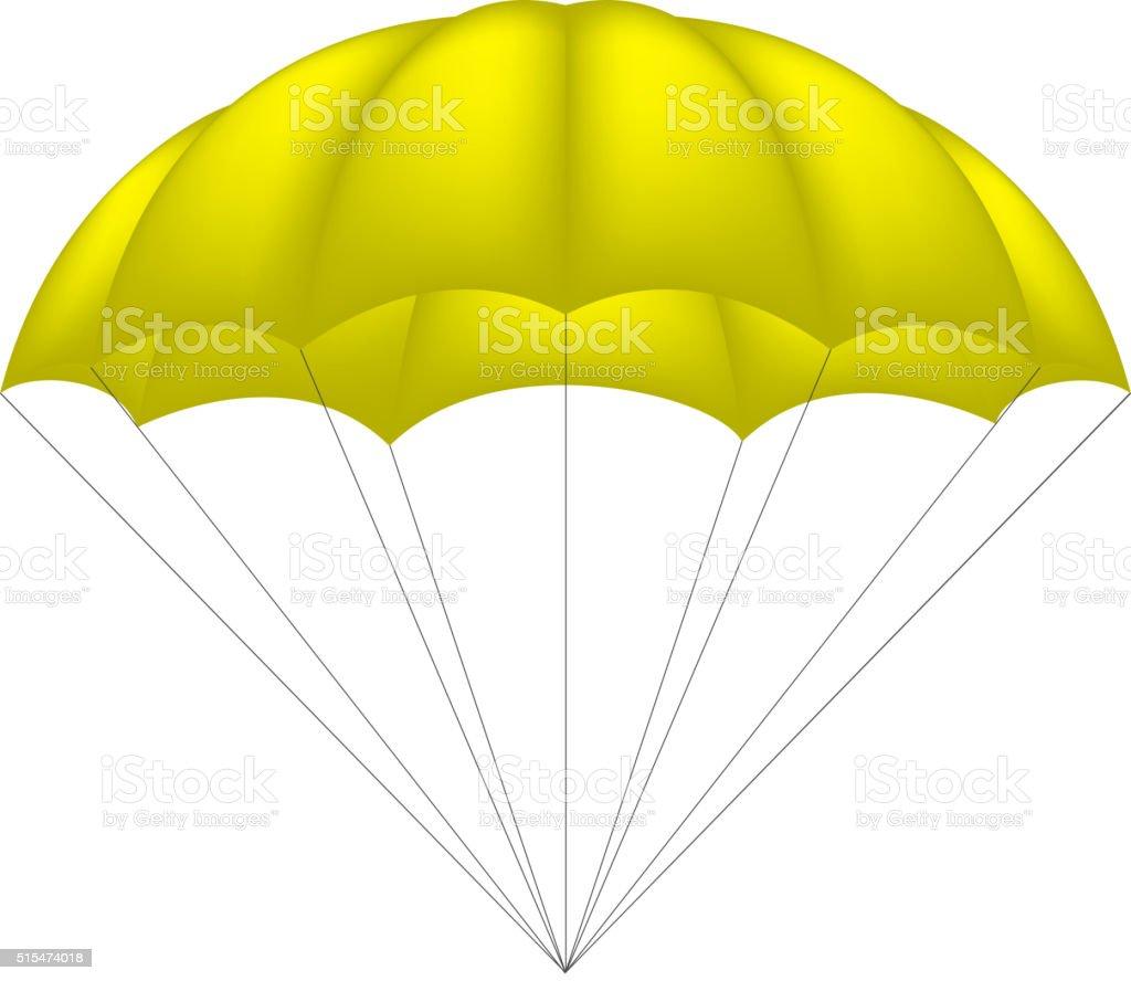 Ilustración de Paracaídas En Amarillo Diseño y más banco de imágenes ...