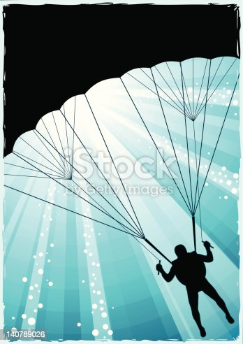 Parachute jumper background