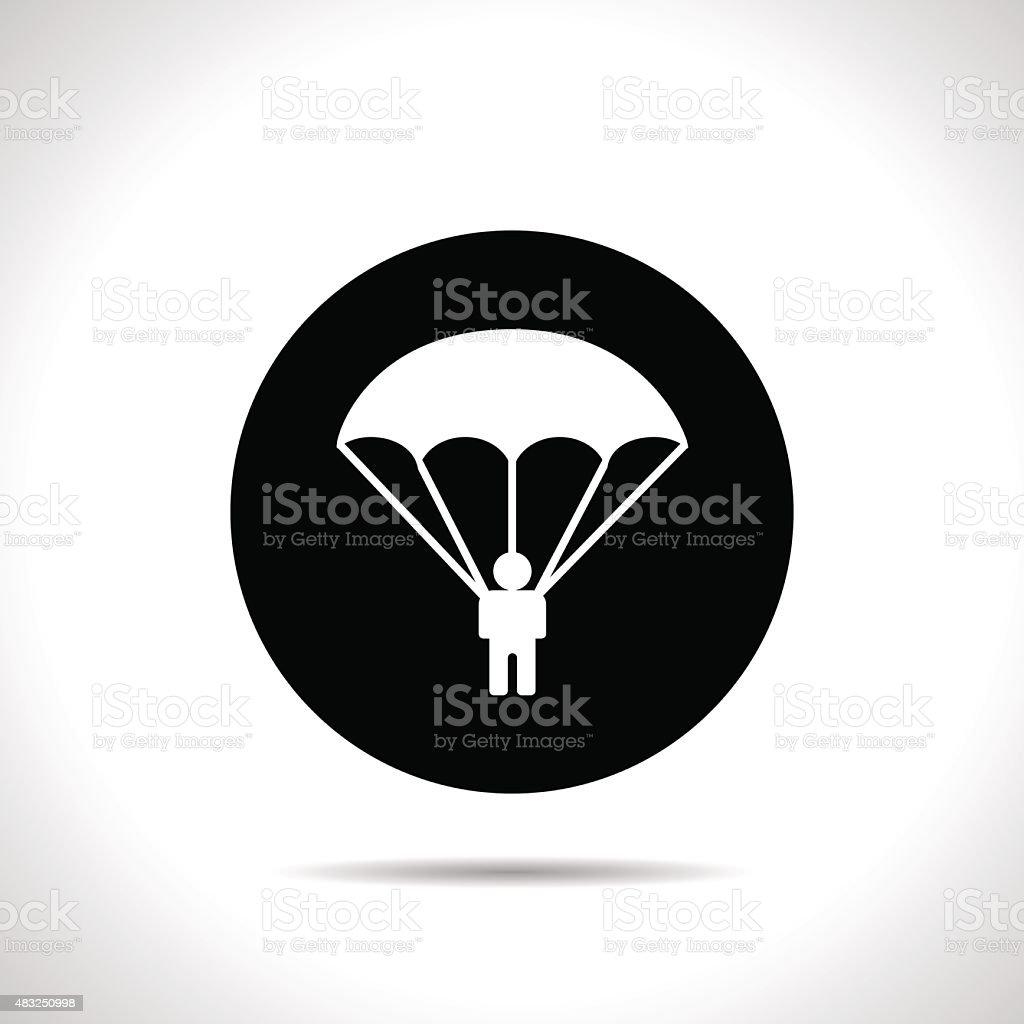 Parachute sport icon vector art illustration