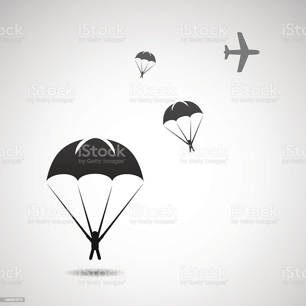 Parachute sport illustration vector art illustration