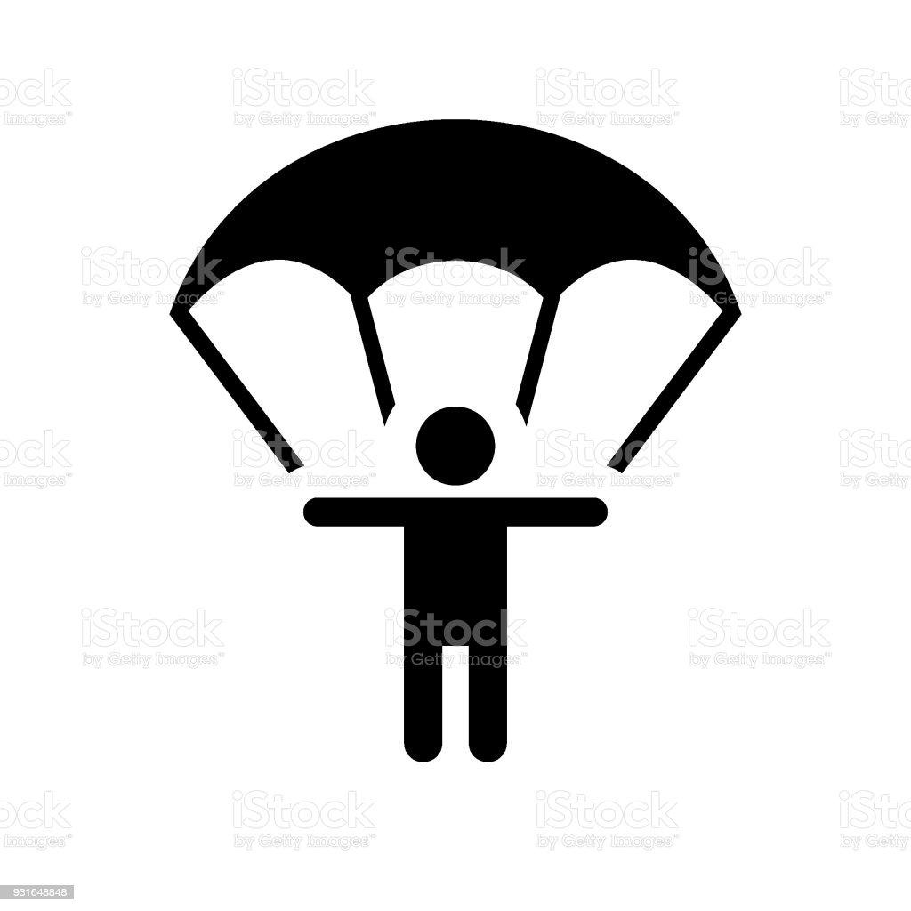 Ilustración de Icono De Vector De Paracaídas y más banco de imágenes ...