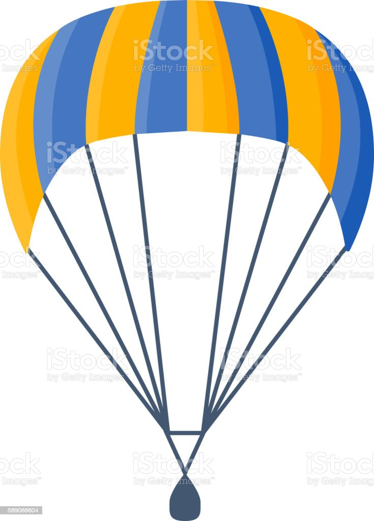 royalty free cartoon of a colorful parachute clip art vector images rh istockphoto com parachute clipart black and white parachute clipart no background